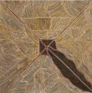 Lot 59 - Kathleen Petyarre Aknkerrth Acrylique sur toile - env 157 x 157 cm Ethnie Anmatyerre - Utopia - Désert Central Estimation : 18 000 - 20 000 €