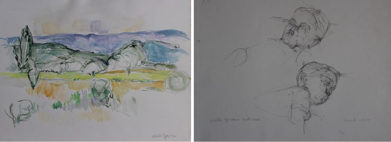 Oeuvre sur papier Arlette Ginioux Galerie Malaquais