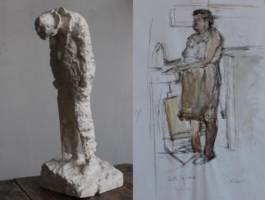 Le Mendiant La Voleuse Arlette Ginioux Galerie Malaquais
